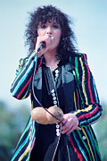 Concerts Prints - Ann Wilson of Heart at 1981 Day on the Green in Oakland Ca Print by Daniel Larsen