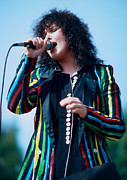 Concert Photos Originals - Ann Wilson of Heart at Day on the Green in Oakland Ca by Daniel Larsen