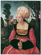 First Lady Painting Framed Prints - Anna Putsch First Wife of Johannes Cuspinian Framed Print by Lucas Cranach the Elder