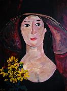 Black Eye Susan Paintings - Anna by Reina Resto