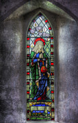 Stained Glass Window Photos - Anna the Prophetess by Ian Mitchell