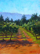 California Vineyard Paintings - Annadel Shadows by Joyce Delario