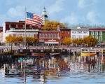 American Flag Metal Prints - Annapolis Metal Print by Guido Borelli