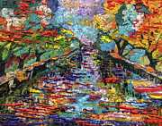 France Mixed Media - Annecy Canal France by Ginette by Ginette Callaway