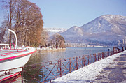 Winter Scenery Prints - Annecy Fairytale. France Print by Jenny Rainbow