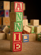 Annie Posters - ANNIE - Alphabet Blocks Poster by Edward Fielding