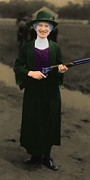 Handgun Posters - Annie Oakley 20130514 long Poster by Wingsdomain Art and Photography