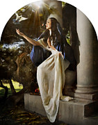 Mother Mary Digital Art Originals - Annunciation by Donna  Martinez
