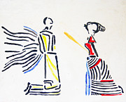 Ugandan Ceramicist Ceramics Prints - Annunciation Print by Gloria Ssali