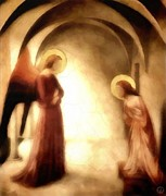 Halo Digital Art Framed Prints - Annunciation Framed Print by Gun Legler