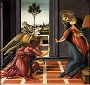 The Annunciation Painting Framed Prints - Annunciation Framed Print by Sandro Botticelli
