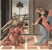 The Annunciation Painting Framed Prints - Annunciation Framed Print by Sandron Botticelli