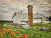 Barn Digital Art Posters - Annville Countryside Poster by Lori Deiter