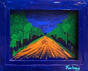 Reverse Paintings - Anoher Yellow Brick Road by Jim  Furlong