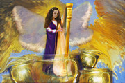 Christian Artwork Paintings - Anointing Overflow by Constance Woods