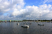 Sailboats In Water Originals - Another Beautiful Day in Newburyport by Suzanne DeGeorge