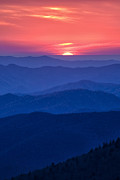 Smokies Prints - Another Day Ends Print by Andrew Soundarajan