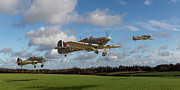 Raf Prints - Another day - Hurricanes scramble Print by Gary Eason