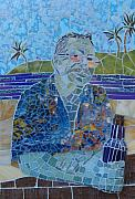 Mosaic Portrait Glass Art - Another Day In Paradise by Gila Rayberg