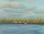 Spoonbill Paintings - Another Day On East Creek by Patty Weeks