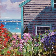 Massachusetts Coast Paintings - Another P Town by Laura Lee Zanghetti