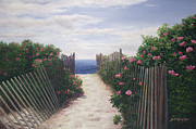 Cape Cod Paintings - Another Path to Paradise - Cape Cod by OMalley Keyes