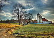 Pennsylvania Barns Digital Art - Another Sunday Morning by Lori Deiter