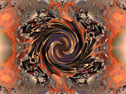 Digital Framed Prints - Another Swirl Framed Print by Claude McCoy