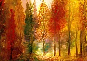 Anne-elizabeth Whiteway Prints - Another View of Autumn Hideaway Print by Anne-Elizabeth Whiteway