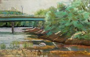 Painted Pastels - Another view of the Broadway Bridge by Tim  Swagerle