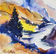 Therese Fowler-bailey Art - Another View of the Truckee  by Therese Fowler-Bailey