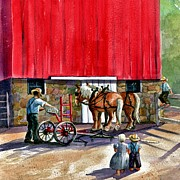 Machinery Painting Originals - Another Way of Life by Marilyn Smith