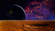 Alien Worlds Prints - Another World Print by Bill  Wakeley