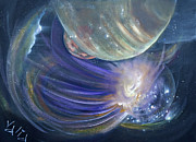Deep Space Art Painting Framed Prints - Another World10 Framed Print by Valia US