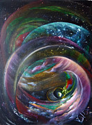 Deep Space Art Painting Framed Prints - Another World13 Framed Print by Valia US