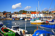Craig Brown Art - Anstruther harbour by Craig Brown