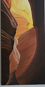 Grande Painting Framed Prints - Antelope canyon 2 Framed Print by Paul Santander
