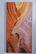Grande Painting Framed Prints - Antelope Canyon 3 Framed Print by Paul Santander