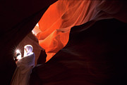 Light Touch Posters - Antelope Canyon Keeper Of The Light Poster by Bob Christopher