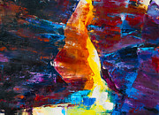 Formation Paintings - Antelope Canyon Light by Elise Palmigiani