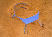 Jerry Mcelroy Metal Prints - Antelope Petroglyph Metal Print by Jerry McElroy