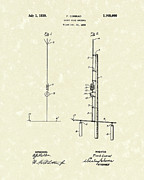 Wave Drawings - Antenna 1930 Patent Art by Prior Art Design