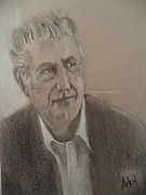 Famous Pastels Originals - Anthony Bourdain by Arlen Avernian Thorensen