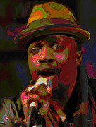 Microphone Digital Art Prints - Anthony Hamilton Print by Byron Fli Walker