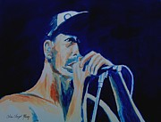 Red Hot Chili Peppers Paintings - Anthony Keidis by Christine Kfoury
