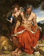 Famous Artists - Anthony van Dyck by Saint Jerome