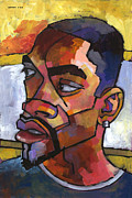 Expressionist Paintings - Anthony Waiting in the Car by Douglas Simonson