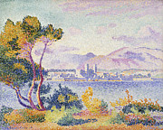 Green Foliage Metal Prints - Antibes Afternoon Metal Print by Henri Edmond Cross