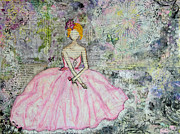 Beautiful Woman Mixed Media Prints - Anticipation Print by Janelle Nichol