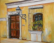 Window Bars Prints - Antigua Window and Door Print by Tess Lehman